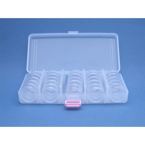 Plastic vakkendoos met 5x5 doosjes 30 mm for Plastic doosjes