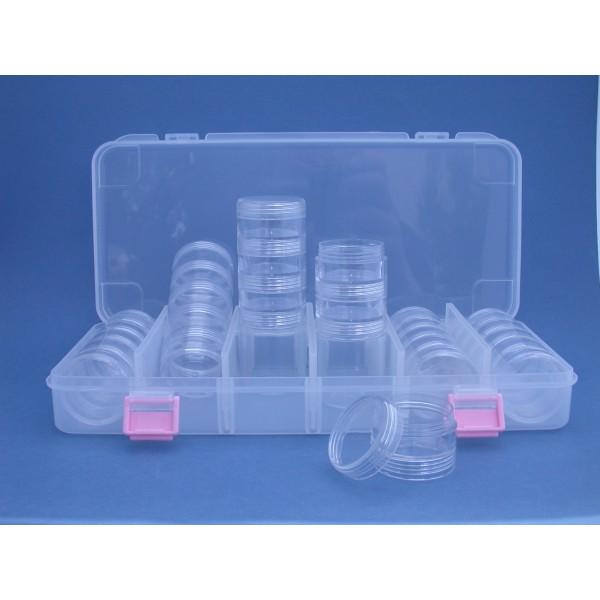 Plastic vakkendoos met 4x5 en 2x4 doosjes 49 mm for Plastic doosjes
