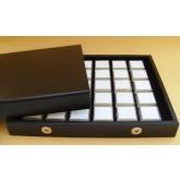 Luxe edelsteen cassette, 30 doosjes 28 x 28 x 19 mm