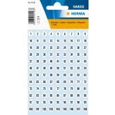Zelfklevende etiketten, rond Ø 8mm, wit, genummerd 1 - 540
