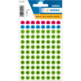 Zelfklevende etiketten, rond Ø 8mm, 3 x genummerd 1 - 160