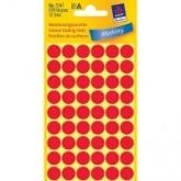 Zelfklevende etiketten, rond Ø 12 mm, rood, 270 st.
