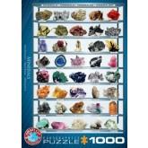 Mineralen puzzel met 1000 stukjes.