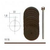 Korund doorslijpschijven Ø 22 mm. + houder