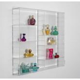 Vitrine Acrylglas 60 x 60 x 11 cm.