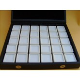 Luxe edelsteen cassette, 30 glasdoosjes 29 x 29 x 17 mm