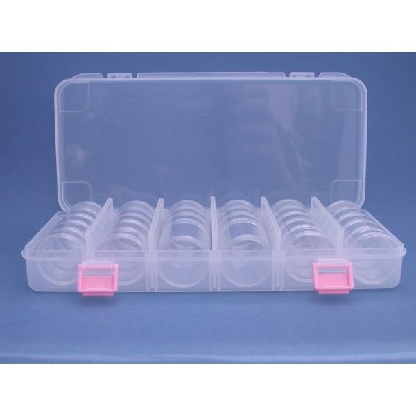 Plastic box with 4x5 en 2x4 boxes 49 mm for Plastic doosjes